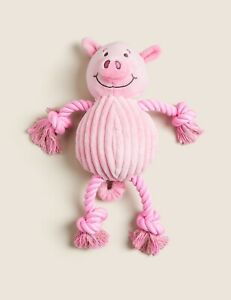 M&S|Percy Pig|Plush Rope Pet Toy|Animals Toy|Teeth Toy|Chew Toy|Squeaker Squeaky