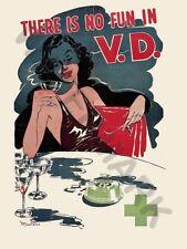 """L'annuncio salute sessuale senza Divertimento MALATTIE VENEREE 12x16 """"Poster Art Print hp3635"""