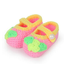 @Crib Crochet Casual Baby Girls Handmade Knit Winter Sock Infant Foliage Shoes&