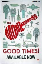 "The Monkees ""Good Times!"" U.S. Promo Poster-Pop/Folk Rock, Psychedelic Pop Music"