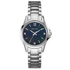 Bulova Diamond Donna Orologio al Quarzo con Quadrante Nero Display Analogico 96P153 AFFARE