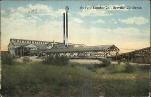 Oroville CA Swayne Lumber Co c1910 Postcard