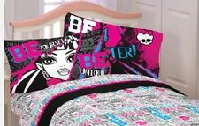 Monster High Ghoulie Gang FULL Sheet Set NEW Fitted Flat 2 Pillow Cases 4 pcs