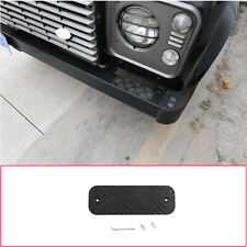 2X Black Alloy Front Bumper Guard Plate Cover for LR Defender 90 110 204-2018