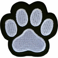Paw Print Patch Iron Sew On Clothes Bag Embroidered Badge Embroidery Applique