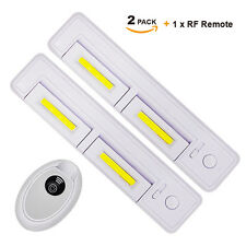 Wireless Remote Battery Operated Dimmable COB LED Under Cabinet Cupboard Lights