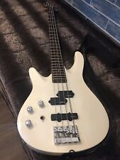 Very Rare Washburn Access SX-4 Bass Guitar - Left Handed Cream With Hard Case