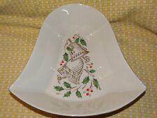 Vintage Lenox Christmas Serving Dish~ Bell Shaped~2 7/8 Tall X 10 3/4 X 10 5/8