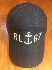 POLO RALPH LAUREN DENIM ANCHOR PRL OUTDOOR 6 PANEL RL67 CAP COTTON INDIGO HAT