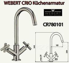 Webert Italy CR780101 CRIO Küchen Spültisch Spülbeckenarmatur H-34cm 360° chrom