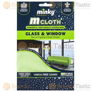 1 X MINKY M CLOTH GLASS AND WINDOW MICRO FIBRE CLEANING CLOTH MRS HINCH GREEN