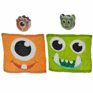 Monsters Expandable Magic Flannel Travel Towel Kids Wash Cloth Stocking Filler