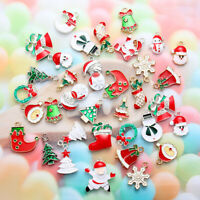 Christmas Charms Bracelet Santa Claus Xmas Tree For DIYUnisex Bracelet Earrings