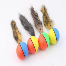 Dog Cat Weasel Motorized Funny Rolling Ball Pet Appears Jump Moving Alive Toy EF