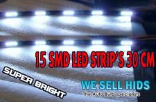 X2 LED DAYTIME RUNNING LIGHT STRIPS DRL Vectra 5050 SMD  R8 STYLE  15 FLEXIBLE