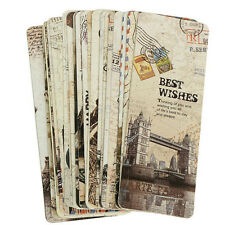30pcs Paris Eiffel Tower Vintage Retro Paper Book Mark Bookmark Book Label M&C