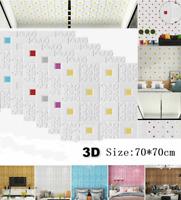 70*70cm PE Foam 3D Brick Wall Sticker Self-Adhesive DIY Wallpaper Panels Decal