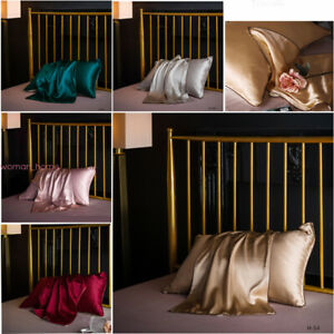 1Pc Soft 100% Mulberry Pure Silk Pillowcase Covers Queen Silk Anti-Ageing Beauty