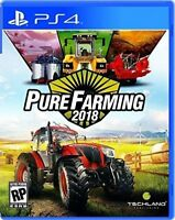 PURE FARMING 2018 PS4 NEW! GROW CROPS, WORLD FIELD COUNTRY, TRACTOR, SIMULATOR