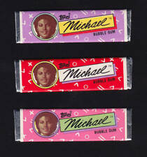Michael Jackson Lot (3) Chewing Gum TOPPS Bubble Sticks Set Kaugummi 1984 NEW