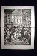 Prigionieri della Battaglia di Lepanto, DI Lorenzo Delleani Incisione del 1876