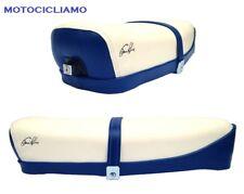 Sella Vespa 50 / 125 ET3 con serratura bicolore bianca-blu elettrico