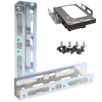 1Set 5.25 Inch to 3.5 + 3.5 Inch to 2.5 Hard Disk Drive Mounting Bracket D ty