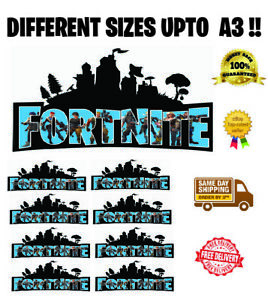 Fortnite Logo Edible Wafer Icing Cake Topper Upto A3 Size Including Costco Cakes