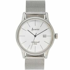Accurist Mens Watch Silver Dial Stainless Steel Case and Bracelet MB1034S