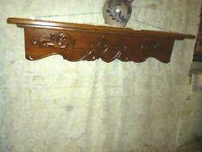 Antique oak shelf ornate clock mantel refinished wall shelf