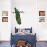 Creative Animals Peacock On Branch Feathers Wall Stickers Wall Decals Home*De LA