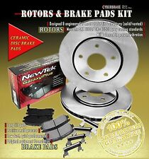 Rotors & Ceramic Brake Pads With Hardware Front Kit Fits 00-05 Chevrolet Impala
