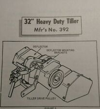 "Simplicity Riding Garden Tractor 32"" Tiller Implement Owner & Parts Manual 8pg"
