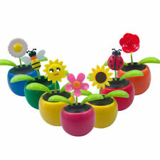 Solar Dancing Toy Flower Assorted style Solar Powered Dancing Flower 6 Pack