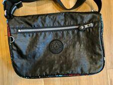 Kipling Cross Body Messenger bag organizer purse Black w/ color trim no monkey