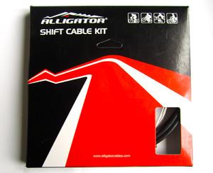 Alligator SUPER LIGHT SHIFT DERAILLEUR Gear Cable set kit - 60% lighter housing