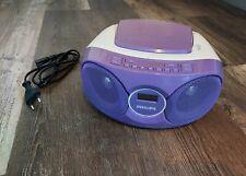 Philips AZ215V/12 CD/Radio-System violett, Tragbarer CD-Player mit AUX
