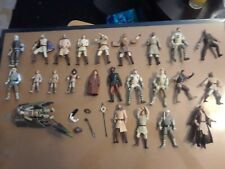 lot H 24 loose STAR WARS action figures,  miscellaneous humans