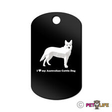 I Love My Australian Cattle Dog Engraved Keychain Gi Tag dog heeler
