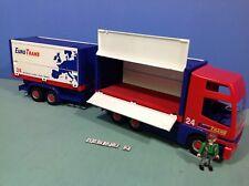 (O4323.2) playmobil  camion euro trans double remorque ref 4323