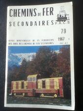 Chemins de fer secondaires 79 1967 TERRITOIRE DE BELFORT RECHESY VALMASEDA