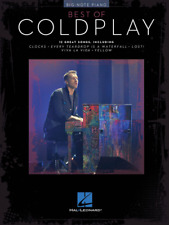 """""""Best of Coldplay for Big-Note Piano"""" MUSIC BOOK-BRAND NEW ON SALE SONGBOOK!!"""