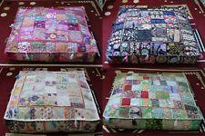 "Indian Wholesale Lots 35"" Patchwork Floor Cushion Covers Home Decorative 5 Pcs"