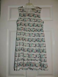 NWT Lucky Brand Girls Youth Dress Print Pattern Sleeveless White cotton Sz xl