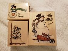 3 Uptown rubber stamps Christmas Stamps, HOPE, Christmas Twig, To-From