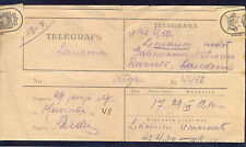 Latvia, 29.06.1927., Extra Telegramm Nr: 6d. from Plavinas to Laudona (RARE)