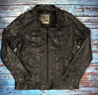 Mens BKE Jacket Faux Leather Medium Black