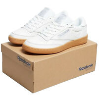 REEBOK CLASSICS CLUB C 85 GUM LEATHER TRAINERS MEN'S SNEAKERS SHOES RETRO 80S 90