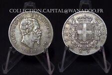 Italie 5 Lires 1874 Milan Vittorio Emanuele II Argent