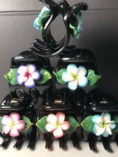 10 Pc Hawaiian Hawaii Hair CLaw Clip Fimo Flower Leaf